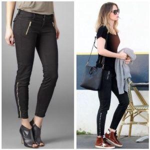 J Brand Black Agnes Moto Jeans Sz 27